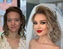 Înainte și după machiajul de nuntă: Realizările uimitoare ale unui makeup artist albanez