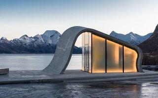 Cea mai frumoasă toaletă publică din lume: Așa ceva numai în Norvegia poți vedea!
