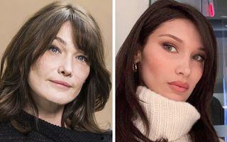 20 de vedete care seamănă mult: Carla Bruni și Bella Hadid par mamă și fiică