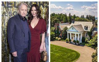 22 de camere, 7 șeminee și piscină acoperită: Cum arată casa de vis pe care Michael Douglas și Catherine Zeta Jones au dat 4,5 milioane de dolari