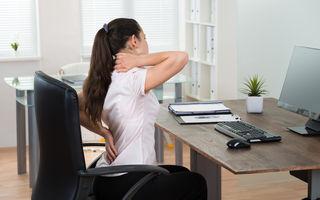 Cum stăm la birou? Cum să evităm problemele de sănătate cauzate de statul pe scaun timp îndelungat