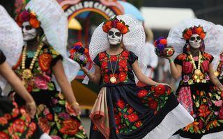 Día de los Muertos, Halloween în stil mexican: 15 imagini spectaculoase de la parada morților