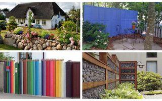 Modele de garduri pentru curți și grădini: 15 exemple care atrag toate privirile