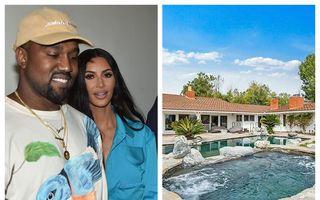 """Kim Kardashian și Kanye West """"își cumpără"""" vecinii: Cât au dat pe o casă cu grajduri de lângă """"palatul"""" lor"""