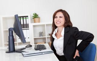 Gimnastica la birou: 8 exerciții care elimină durerile și te ajută să ai rezultate excelente