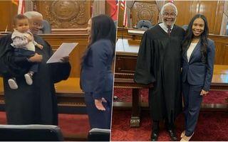 Gestul superb al unui judecător în momentul în care o mamă a ajuns în fața lui: I-a ținut copilul în brațe în timp ce ea rostea jurământul