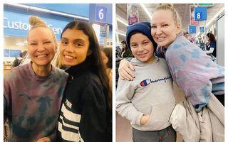 Cine e femeia care a plătit cumpărăturile tuturor clienților la supermarket: Vedeta a fost recunoscută de un fan