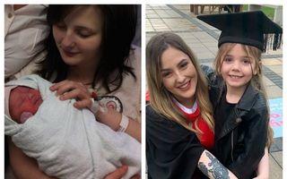 Pariul unei tinere care a devenit mamă la 14 ani: A abandonat școala ca să muncească pentru copilul ei, iar la 21 de ani a terminat facultatea