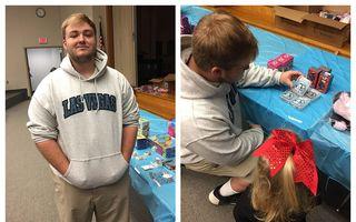 Gestul frumos al unui elev de liceu: I-a lăsat pe copiii unei femei să-și aleagă jucării de Crăciun pe care nu și le permiteau și le-a plătit el