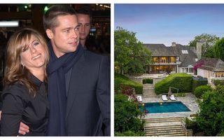 Cum arată casa fabuloasă pe care Jennifer Aniston și Brad Pitt au cumpărat-o după nuntă: Prețul este colosal