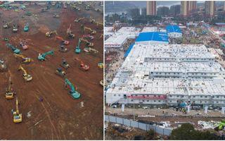 Cum arată spitalul cu 1000 de locuri construit de chinezi în 10 zile