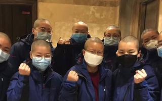 Cum se apără chinezii de coronavirus: Asistentele medicale s-au tuns zero pentru a evita contaminarea