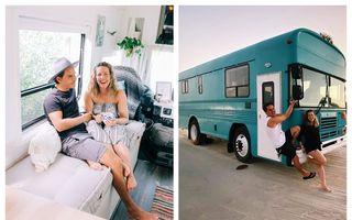 Mereu acasă: Garsoniera primitoare amenajată într-un autobuz
