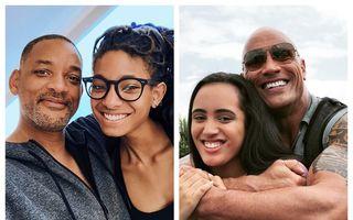 Cum arată bărbații celebri lângă fetele lor: 17 tați care au de ce să fie mândri