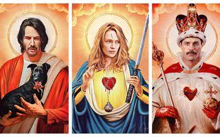 """""""Sfântul Keanu"""" și """"Sfânta Uma"""": 22 de icoane pop la limita dintre artă și blasfemie"""