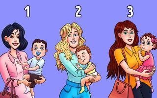 Alege femeia care ține în brațe copilul altcuiva și află care e relația ta cu oamenii din jur