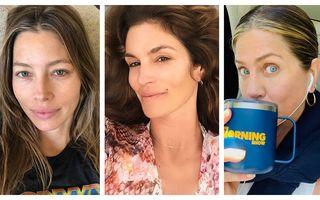 Cele mai sincere selfie-uri postate de vedete pe Instagram: 18 imagini fără machiaj