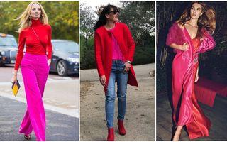 Roșu și roz, combinația surprinzătoare de culori care arată spectaculos. 30 de ținute