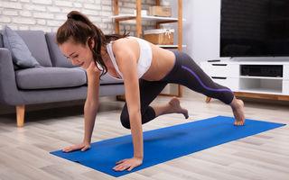 5 exerciții simple și eficiente pe care să le faci acasă