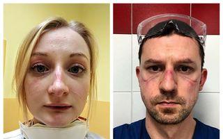 27 de imagini tulburătoare ale medicilor epuizați de lupta cu Covid-19