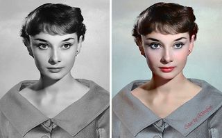 Frumusețe fără vârstă: 30 de imagini ale vedetelor de la Hollywood, colorate de o artistă