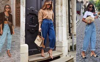 Blugii slouchy sunt noul trend în materie de jeans. 22 de outfituri cu care nu vei da greș