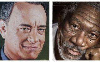 14 actori și portretele lor incredibile: 60 de ore de muncă pentru fiecare!