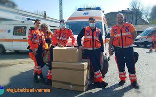 Proiectul Ajutați Salvarea donează echipamente de protecție  pentru ambulanțele din București