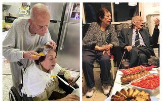 #VeștiBune: Bătrânul de 92 de ani care îi vopsește părul soției, povestea emoționantă din carantină