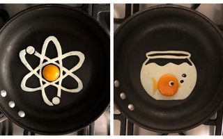 Distracție cu gălbenuș și albuș: 30 de desene cu ouă schițate în tigaie