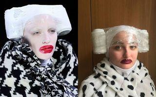 Moda de carantină: 23 de ținute extravagante, imitate cu ce se găsește prin casă