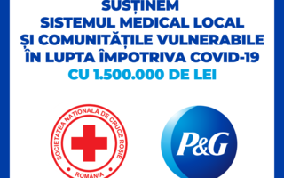 #VeștiBune: P&G și brandurile sale își unesc forțele cu Crucea Roșie Română pentru a susține sistemul medical și comunitățile afectate