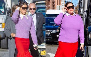 Mărimea nu contează! O bloggeriță plus-size copiază ținutele vedetelor și arată perfect