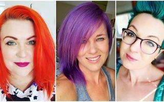 Culorile intense de păr nu sunt doar pentru adolescente! 25 de femei care le-au încercat și arată senzațional