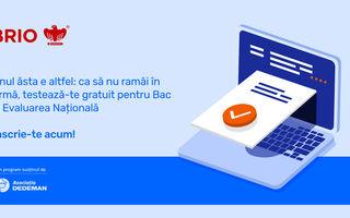 #VeștiBune: Asociația Dedeman și Brio.ro lansează cea mai largă inițiativă de testare GRATUITĂ a tuturor elevilor pentru Bac și Evaluarea Națională