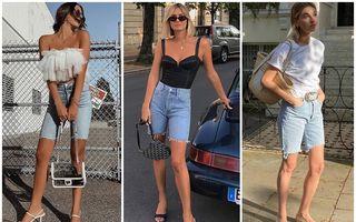 Cum să porți pantalonii scurți de blugi în vara 2020