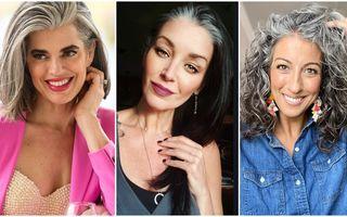 #VeștiBune: Părul alb este frumos! 40 de femei care au renunțat să se mai vopsească