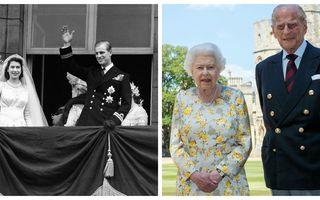 Povestea de iubire dintre regina Elisabeta a II-a și prințul Philip în 20 de imagini spectaculoase