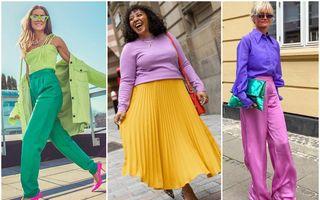 6 fashioniste care te vor inspira să porți haine mai colorate. 60 de ținute