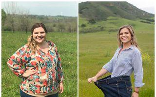 O tânără a slăbit 60 de kilograme urmând aceste 5 reguli simple