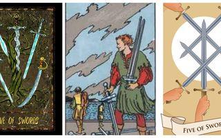 Tarot. Cartea Zilei: 5 de Săbii. Care sunt sfaturile pentru azi