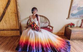 Și-a vopsit singură rochia de mireasă, iar imaginile au devenit virale. Acum are o afacere de succes!