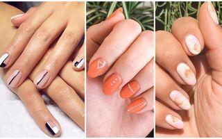 50 de manichiuri nail art minimaliste pe care ți le poți face singură