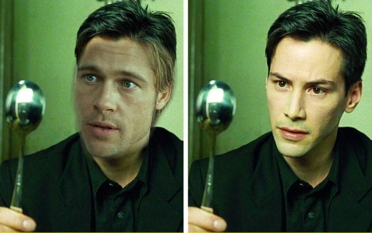Brad Pitt, Keanu Reeves, Matrix