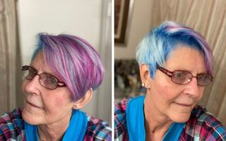 Provocarea unei bunicuțe a devenit virală: Toate prietenele ei și-au vopsit părul în culorile curcubeului