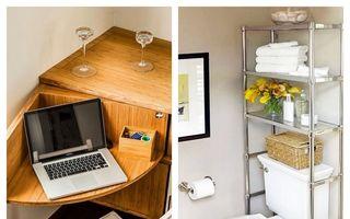 Idei și sfaturi de amenajare a locuințelor mici. 15 imagini din care să te inspiri