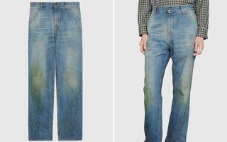 """Gucci vinde blugi """"murdari"""" cu urme false de iarbă: Costă 650 de euro!"""