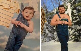 Nostalgia copilăriei: 20 de fotografii vechi recreate