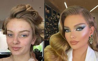 Un makeup artist transformă femeile obișnuite în miresele perfecte: 25 de imagini spectaculoase