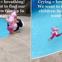 Metoda eficienta prin care o instructoare de inot ii invața pe copii sa supraviețuiasca in apa
